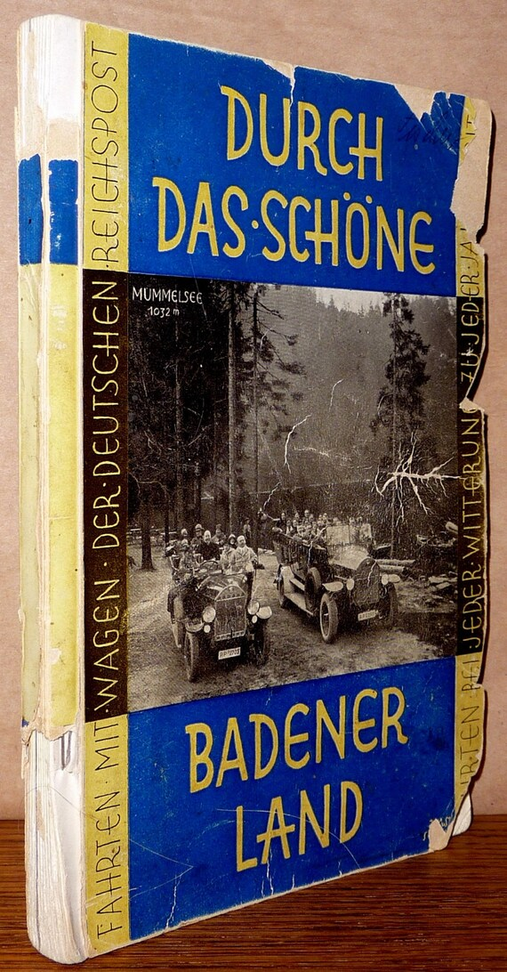Kraftpostfuhrer Durch Das Badener Land  - Weimar Repbulic Travelog Ca. 1920 German Language Travel Tourism