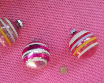Vintage Stripped Ornaments