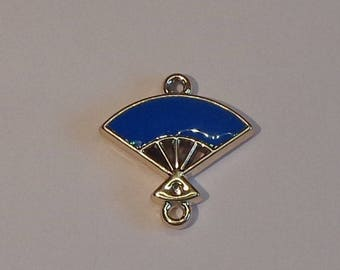 Fan charm double sided blue