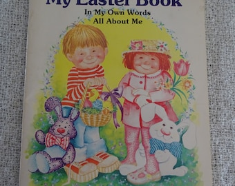 Children's Easter Book, All About Me Easter Book to Fill Out, Vintage 1984 Unused Book, Stories Crafts and Recipes, Holiday Fun for Kids
