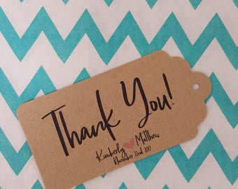 Wedding Gift Tags - Thank you - Customizable Personalized (WT1801)