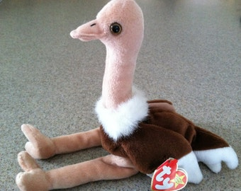 Vintage Ty Stretch the Ostrich Beanie Baby