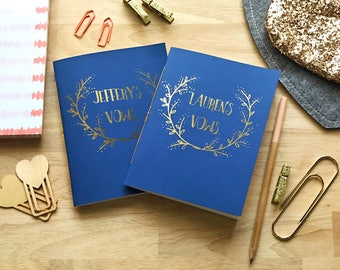 Custom Wedding Vow Books (Set of 2)