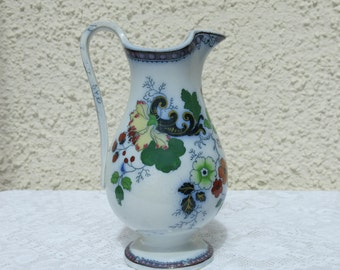 Antique Transfer Printed Pottery Jug c1880 - Probably Scottish