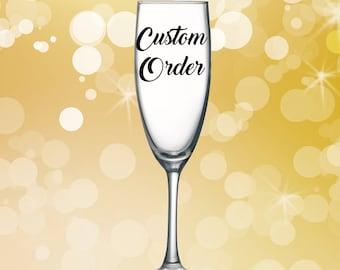 Customized Champagne Glass
