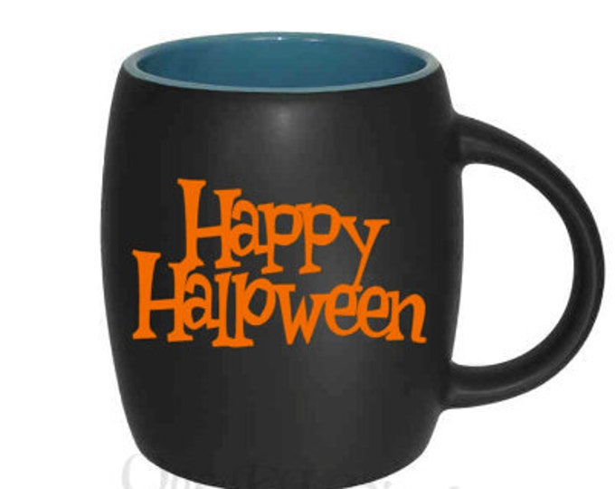 DIY Decal - Happy Halloween Decal, Vinyl Decal - Mugs/Wine Glass NOT included