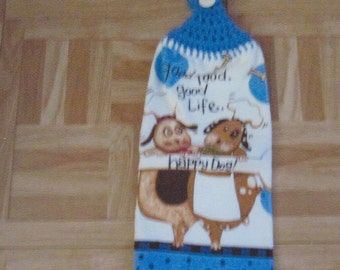 Crocheted  Hang Towel- Dogs