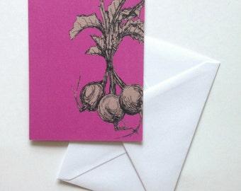 Beetroot greeting card