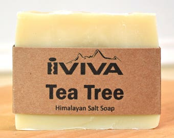 Tea Tree Salt Soap, Tea Tree Soap, Vegan Soap, All Natural Soap, Acne Soap, Soap for Gym, Oily Skin, Soap for skin rash, Soap for athletes
