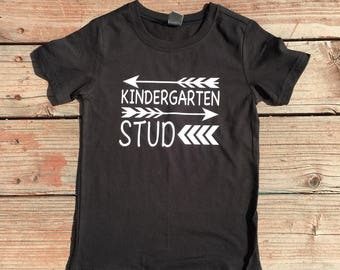 First day of School Kindergarten Stud Shirt