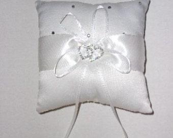 Double Heart Ring Bearer Pillow, Wedding Ring Bearer Pillow Decoration, Ring Bearer's Pillow, Wedding Decoration, Wedding,