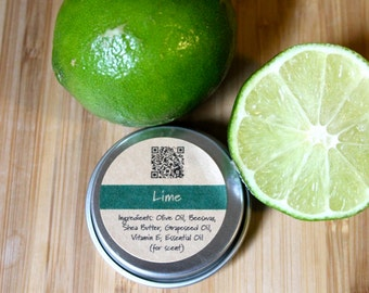 Lime Beeswax Lip Balm Tin