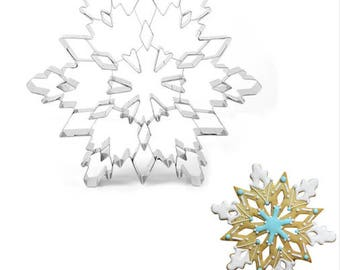 """Extra Large 7.5"""" Snowflake Cookie Cutter - Party Biscuit Fondant Sugar Cutter Snow Winter Holiday"""