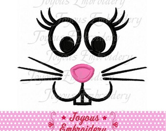 Instant Download Easter Bunny Face 02 Applique Machine Embroidery Design NO:1984