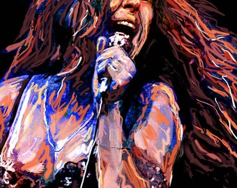 Janis Joplin Art, Jazz Painting, Singer Artwork