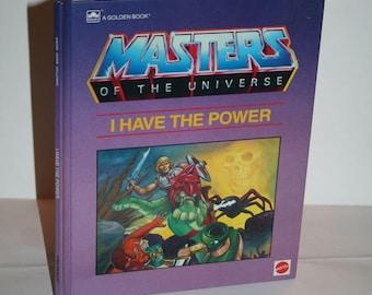 "Vintage 1985 Golden Book Masters of the Universe ""I Have the Power"" He-Man, Orko, Man-at-Arms, Skeletor, Prince Adam, Castke Grayskull, MORE"