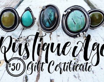 Gift Certificate   50   Fifty Dollar Value // RusTiqueAge