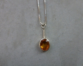 Minimalist Silver Necklace Pendant