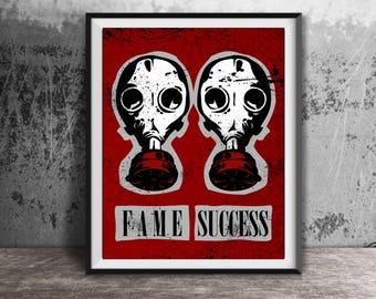 TWENTY ONE PILOTS Inspired Poster Print | 11x14 | Lane Boy | Fame | Success | Wall Art | Home Decor