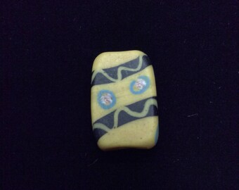 Tabular Yellow Venetian Trade Bead