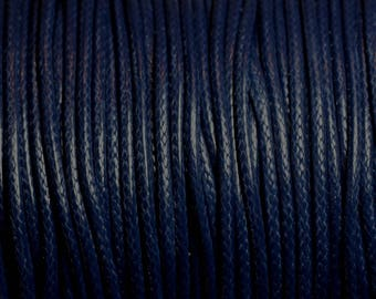 5 Metters - Navy Blue 2mm waxed cotton cord - 4558550016089
