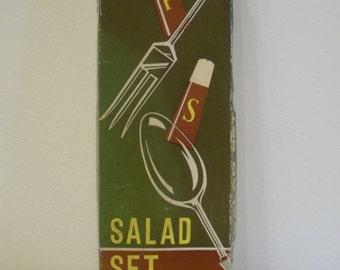 Vintage Mid Century Salad Set