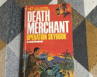 Vintage 1981 Death Merchant Operation Skyhook #47 Joseph Rosenberger Paperback Book