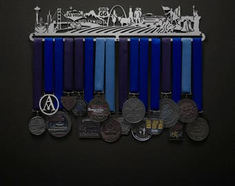 Run The USA (No Text) - Allied Medal Hanger Holder Display Rack