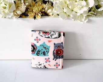 Jewelry Pouch - Jewelry Organizer - Earring Display - Bridesmaid Gift - Needle book - Sewing Needle Holder