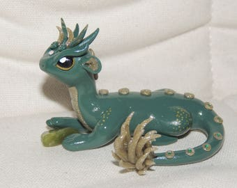 Green Dragon Polymer Clay figurine