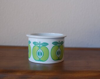 Vintage Arabia of Finland apple jam pot jar Mid Century Scandinavian Modern