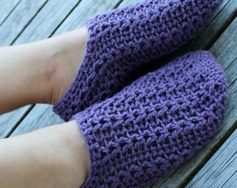 Download Now - CROCHET PATTERN Simple Cable Slippers - Mens and Ladies Sizes - Pattern PDF