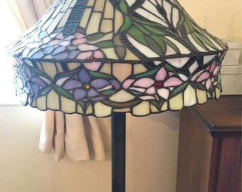 TIFFANY Style Floral Stained Glass Handcrafted Floor Lamp