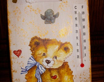 Baby Teddy Bear inside thermometer