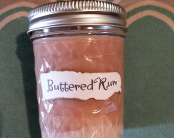 Buttered Rum soy candle