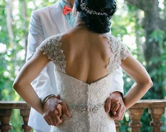 Crystal Hair Vine Wedding Headpiece, Organic Style Hair Piece Headband
