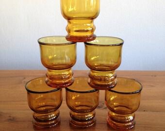 6 verres à pastis Pernod - Ricard - vintage - France