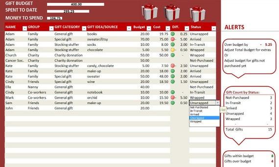 Kalender-Excel-Vorlage Journal Urlaub Kosten-Tracker