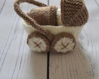 Pram Charm Knitting Pattern, Baby Carriage Charm Knitting Pattern,  Baby Shower Gift