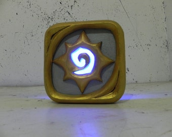 Hearthstone logo night lamp