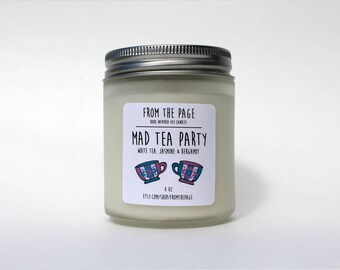 A Mad Tea Party Soy Candle - 8 oz