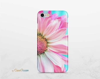 phone case PINK DAISY / iPhone 8 7 6 case / iPhone 8 7 6s Plus case / iPhone X case / iPhone SE 5 5s case / Samsung Galaxy Note8 S8 S7 case