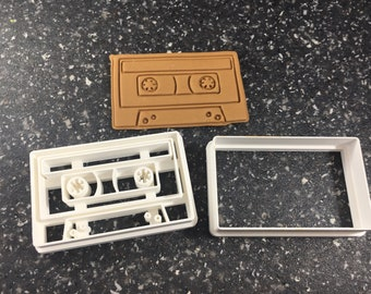 Cassette Shape Cookie Cutter and Stamp