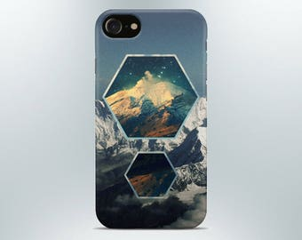 Mountains phone case iPhone X 8 plus 7 6 6s 5 5s se 4 Samsung galaxy s8 s7 edge s6 s5 s9 note art cover gift geometric texture print poster