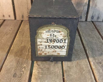 Vintage Rx File Box