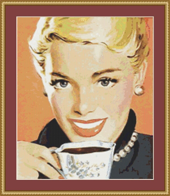 A Cup Of Coffee Cross Stitch Pattern /Digital PDF Files /Instant downloadable