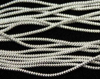 Benton & Johnson Goldwork-Wire Check-SILVER PLATED metal embroidery thread-choose size