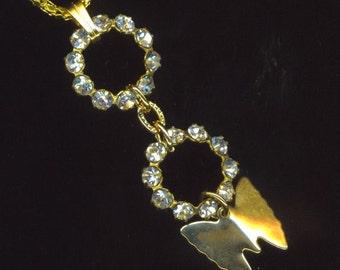 Butterfly Pendant . Gold Plated Swarovski Circle. Round Crystal Pave Rhinestone . Spring - Minimalist Style Pendant by enchantedbeas on Etsy