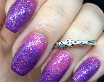 More Human Than Human Nail Polish - pink-purple holo thermochromic