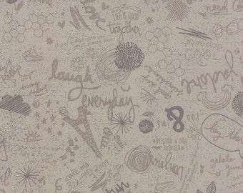 OOAK #1355 - 19 x 44 - Mon Ami Bon Jour Gris Grey Fabric by Basic Grey - 30412 20